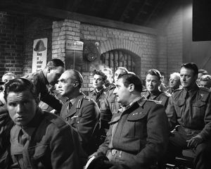 British soldiers in Dunkirk during the screening of a film