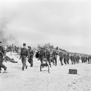 British troops stranded on the beach