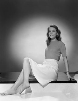 Carol Marsh sits for a promotional portrait for the release of Brighto Rock (1947)