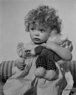 Child with Teddy Bear publicity shot for Young Wives' Tale