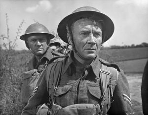 A close up of John Mills