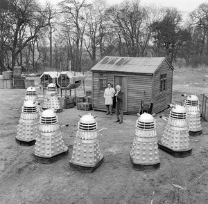 The Daleks surround Dr. Who