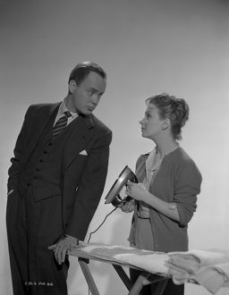 Derek Farr and Joan Greenwood pose in a publicity portrait for Young Wives' Tale