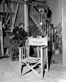 Diana Dors chair on the set of Yield to the Night