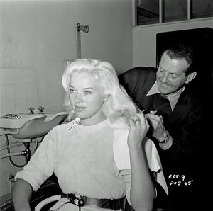 Diana Dors at Elstree Studios
