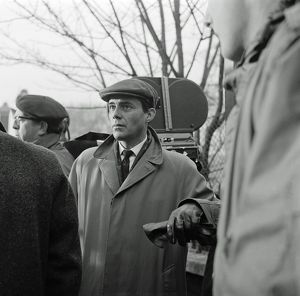 Dirk Bogarde on the set of The Servant (1963)