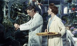 Dr Decker and Margaret feed the plants