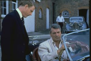Edward Fox and Rock Hudson in The Mirror Crack'd (1980)