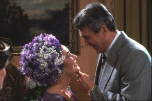 Elizabeth Taylor and Rock Hudson in a scene from The Mirror Crack'd (1980)
