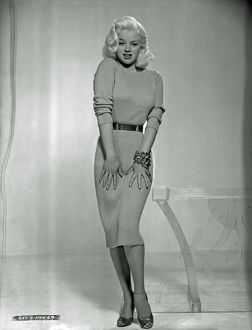 A fashion portrait of Diana Dors
