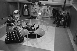 Fighting erupts inside the Daleks spaceship
