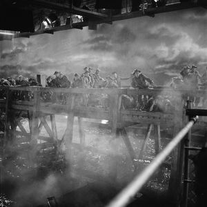Filming the bridge sequence from Dunkirk (1958)