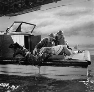 Filming a sequence from Dunkirk (1958)