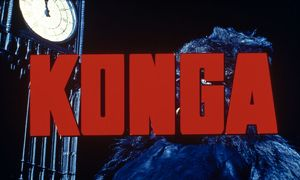 A frame from the titles sequence of Konga (1961)