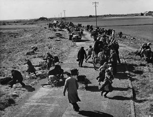 French civilians strafed by German planes