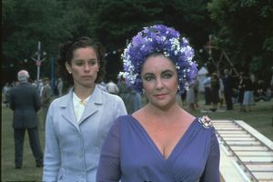 Geraldine Chaplin and Elizabeth Taylor in a scene from The Mirror Crack'd (1980)