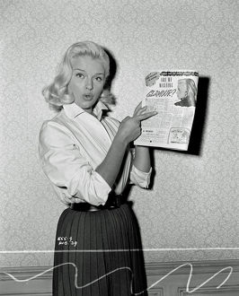 A humorous portrait of Diana Dors