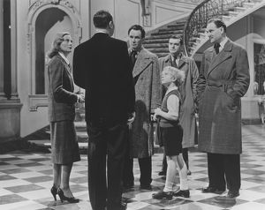 An interior group scene from The Fallen Idol (1948)