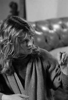 Julie Christie during the filming of Don't Look Now (1973)