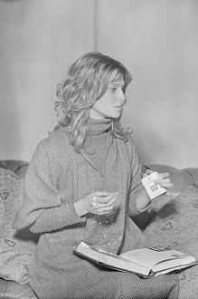 Julie Christie on the set of Nic Roeg's Don't Look Now (1973)