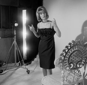 Julie Christie on the set of a publicity shoot for the promotion of Billy Liar (1963)