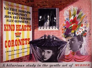 Kind Hearts and Coronets (1949) UK quad poster