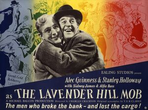 The Lavender Hill Mob UK quad artwork for the release of the film in 1951