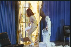 Mrs Peel faces a fire