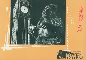 A page from the UK pressbook for the release of Konga in 1961