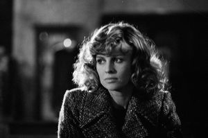 A pensive Julie Christie on the set of Don't Look Now (1973)
