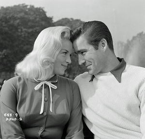 A portrait of Diana Dors and Michael Craig