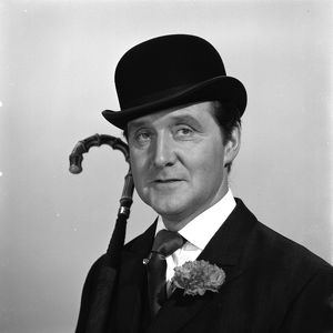 A portrait of Patrick MacNee as Steed