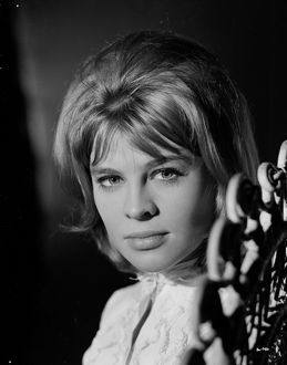 A portrait of a young Julie Christie for the promotion of Billy Liar (1963)
