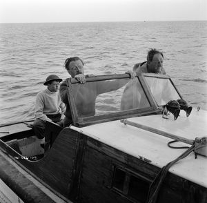 Richard Attenborough Bernard Lee and Sean Barrett