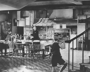A scene set in the kitchen of the embassy in The Fallen Idol (1948)