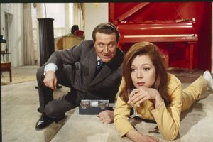 Steed and Mrs Peel in her flat