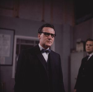Steed wears glasses