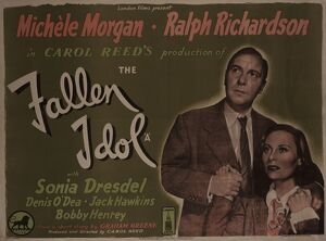 UK quad artwork for the release of Carol Reed's The Fallen Idol (1948)