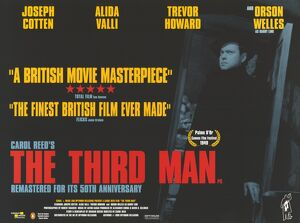 UK quad poster artwork for the 1999 release of The Third Man (1949)