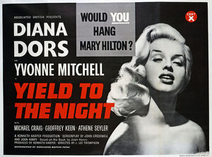 UK quad poster for the release of Yield to the Night (1956)
