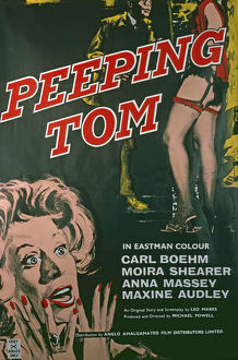 UK One sheet poster for Peeping Tom (1960)
