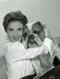 Yvonne Mitchell and bulldog